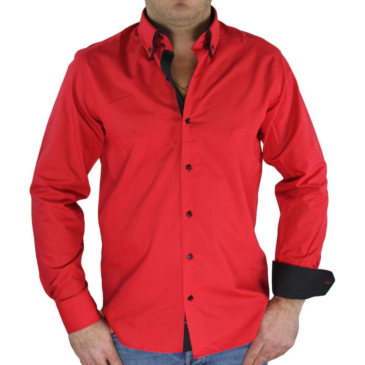 Chemise rouge noir - Chemise rouge et noir homme ...