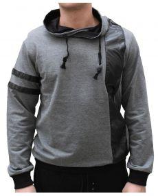 T-shirt homme simili cuir gris