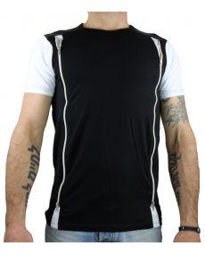 T-shirt homme avec zip noir