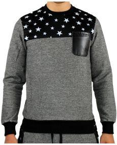 T-shirt homme ML étoile noir