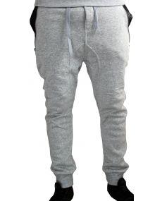 Sarouel homme bretelle gris