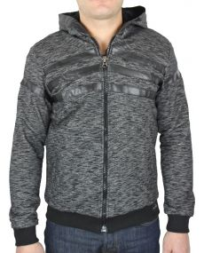 Sweat zippé homme chiné