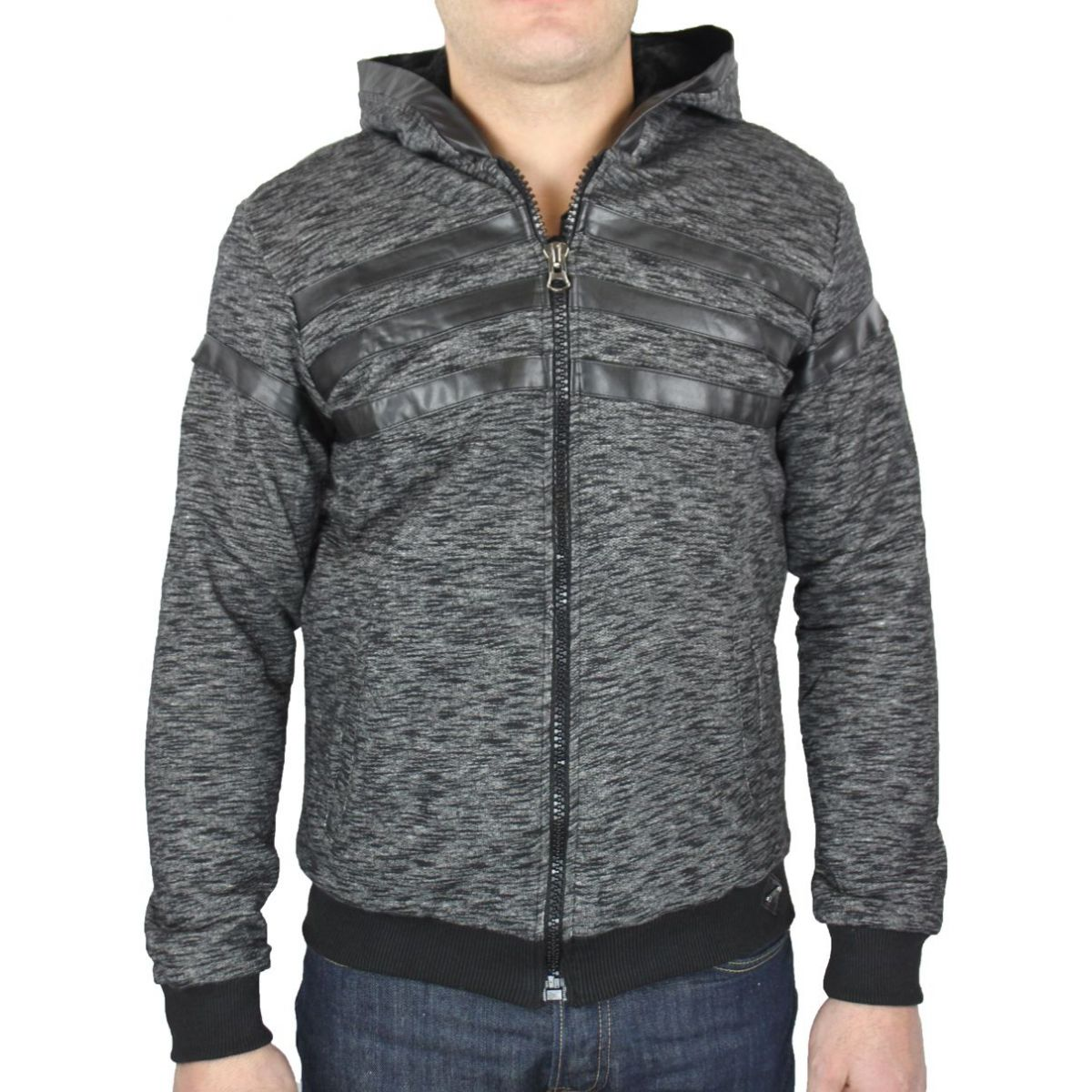 be5bede118 Sweat zippé homme chiné - MacktenFashion.com