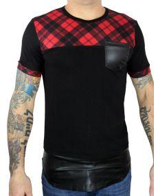t-shirt oversize bi matière noir