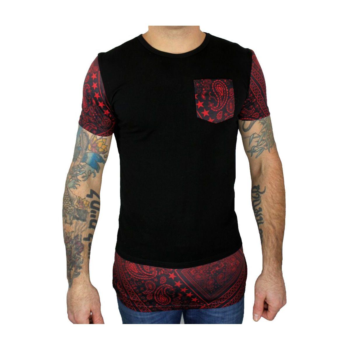 tee shirt oversize noir rouge. Black Bedroom Furniture Sets. Home Design Ideas