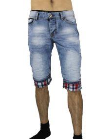 Bermuda jeans homme froissé