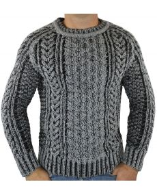 Pull homme fashion col rond Gris