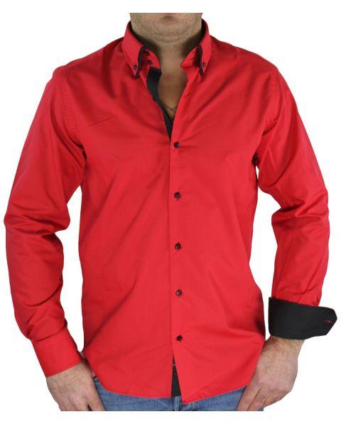 Chemise rouge noir