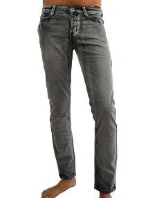 Jean homme gris délavé elasthane