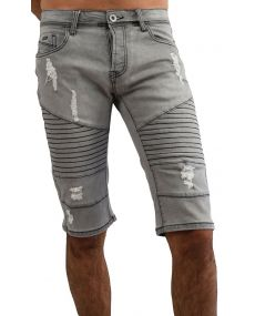 Bermuda jean's homme gris 35