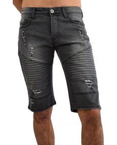 Bermuda jean's homme noir 35