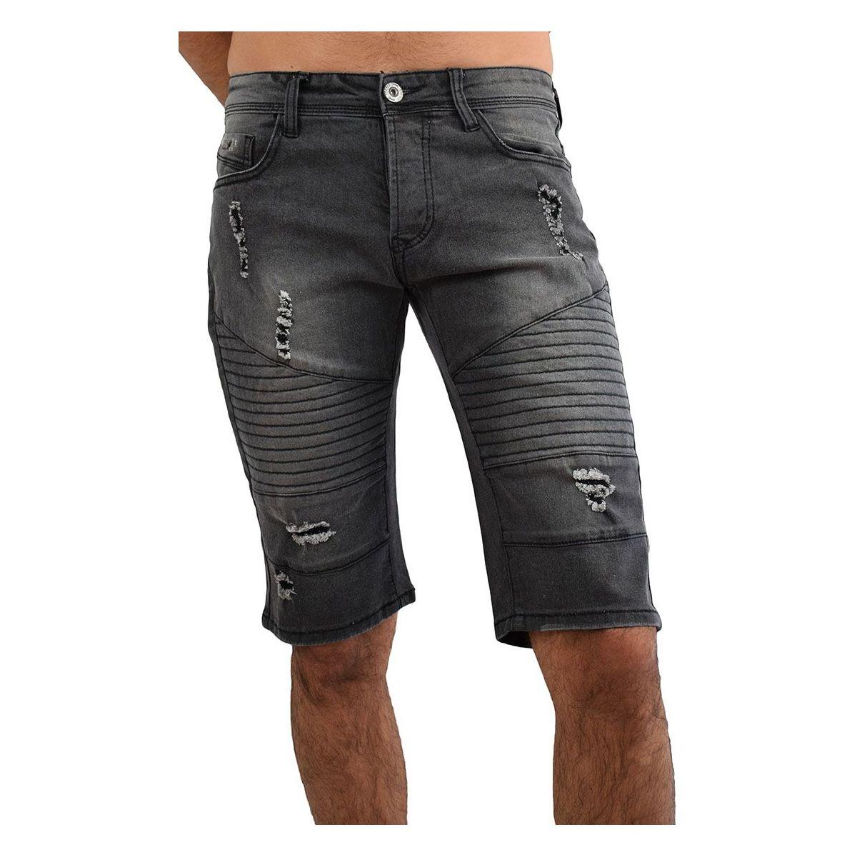 bermuda jean homme 35 short en jean noir fashion. Black Bedroom Furniture Sets. Home Design Ideas