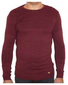 pull homme fine maille bordeaux