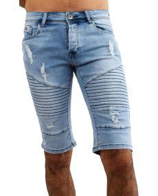 Bermuda jean's homme elasthane