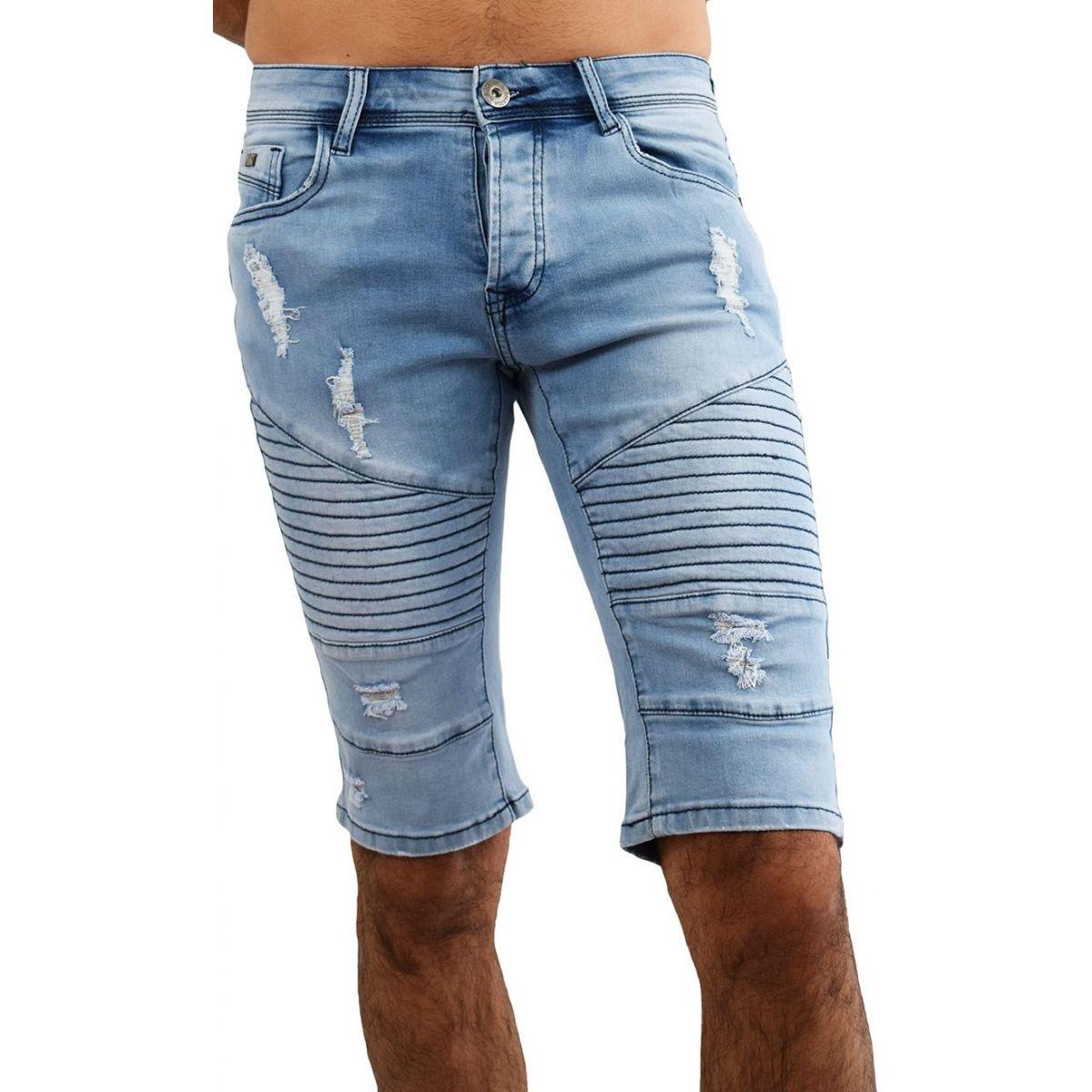 bermuda jean homme 35 short en jean bleu fashion. Black Bedroom Furniture Sets. Home Design Ideas