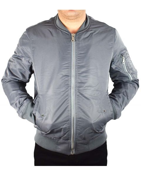 Bombers homme gris