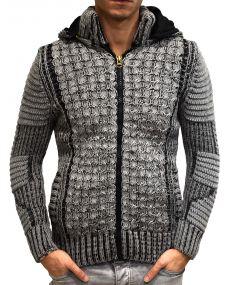 Gilet homme fashion fourré gris