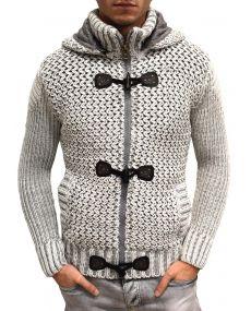 Gilet homme fashion fourré écru