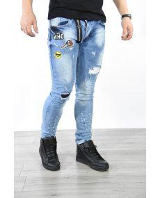 Jeans bleu patch