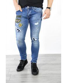 Jeans bleu patch 1446
