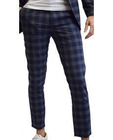 Pantalon carreaux marine 28041 mackten