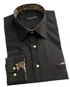 Chemise léopard noir